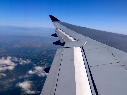 飛行機 機内から外